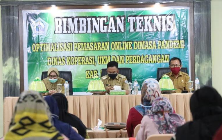 Bimtek pemasaran online prodak UKM yang digelar Pemkab Bantaeng (ist)