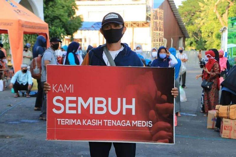 Pasien sembuh di Surabaya [Src. Sosmed Surabaya]