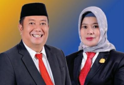 Ketua Golkar Bulukumba, Andi Hamzah Pangki dan Ketua Demokrat Bulukumba, Andi Murniaty Makking