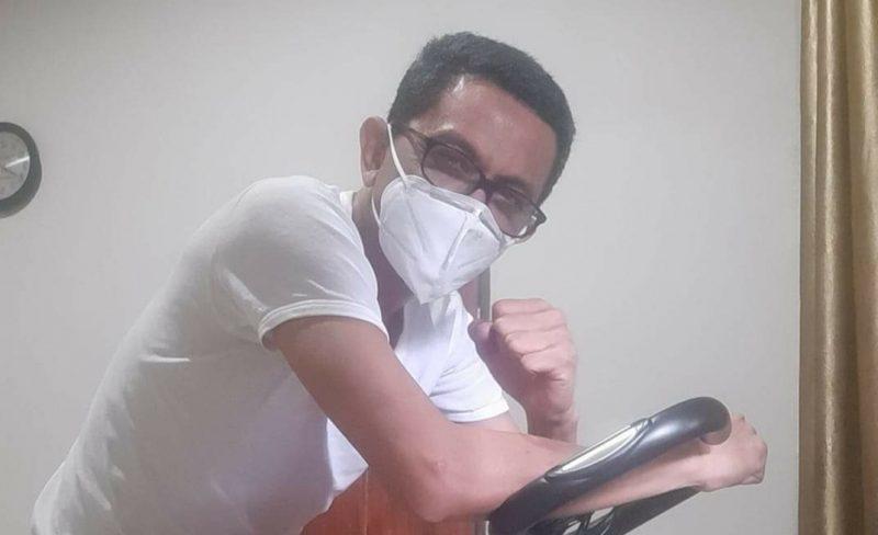 Sekertaris Bappeda Bulukumba, Amran Syaukani saat menjalani isolasi [IST].