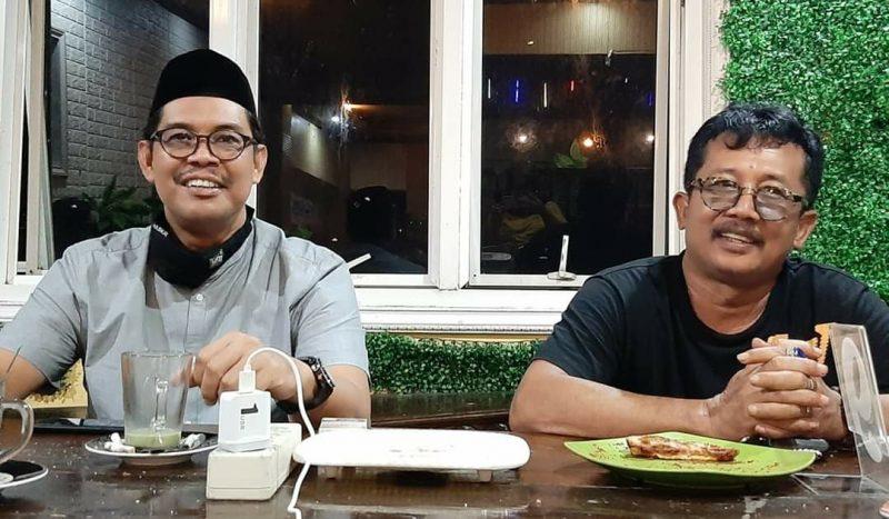 Legislator Sulsel F-PAN, Andi Edy Manaf Bersama Ketua PAN, Sekaligus Legislator Bulukumba, Andi Zulkarnain Pangki. [IST]