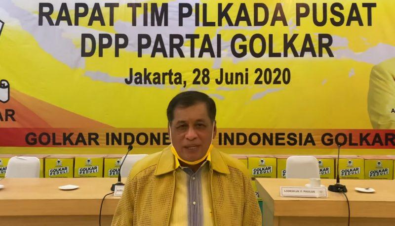 Nurdin Halid, ketua plt DPD I Golkar Sulsel. [IST]