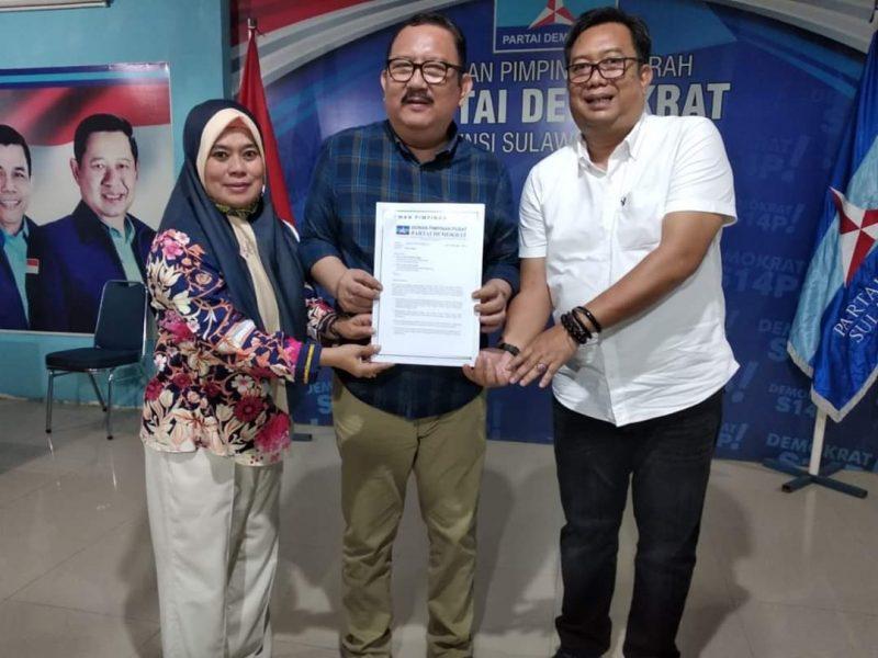Penyerahan surat tugas partai Demokrat kepada pasangan bakal calon Bupati dan wakil Bupati Bulukumba, AHP-AMM, Jumat (3/7/2020).