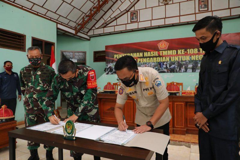 Brigjen TNI Djashar Djamil, dan Bupati Bantaeng, H. Ilham Azikin