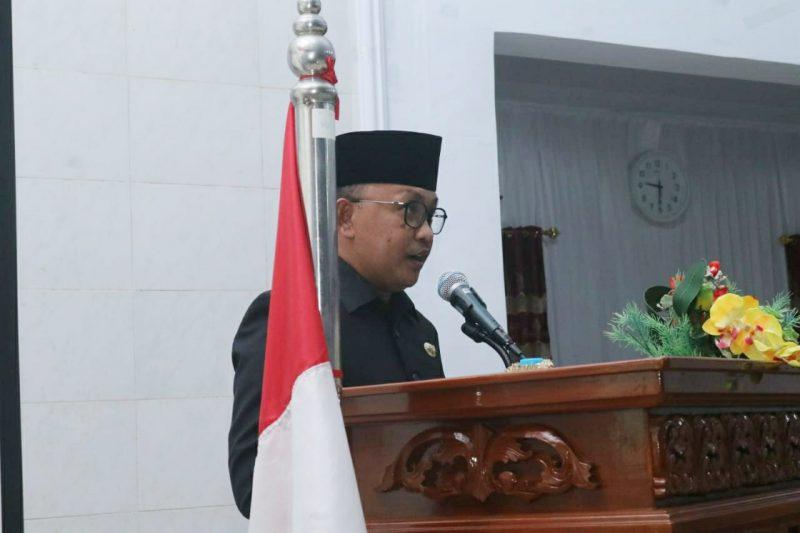 Bupati Bantaeng, Ilham Azikin beri jawaban atas pandangan fraksi di DPRD Bantaeng, Kamis (16/7/2020).
