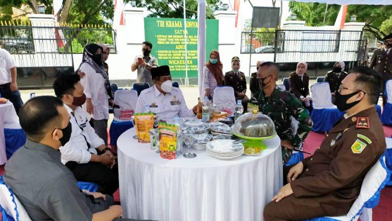 Bupati Bulukumba bersama jajaran pimpinan Stakeholder di peringatan hari Bhakti Adhyaksa ke-60 di kantor Kejaksaan Negeri Bulukumba, Rabu (22/7/2020).