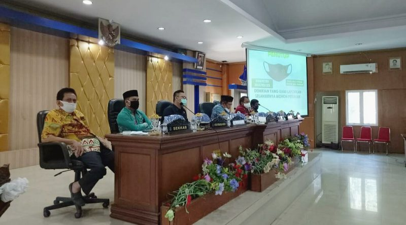 Rapat Satgas Covid-19 Bulukumba, di ruang pola kantor Bupati Bulukumba, Jumat (24/7/2020).