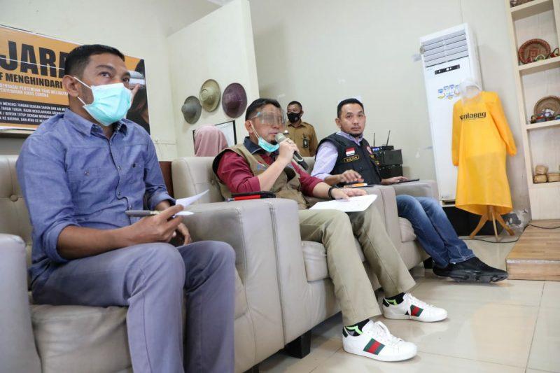 Juru bicara Satgas Covid-19 Bantaeng, dr Andi Ihsan memberikan keterangan perkembangan penanganan covid-19 di Banteang. [IST]