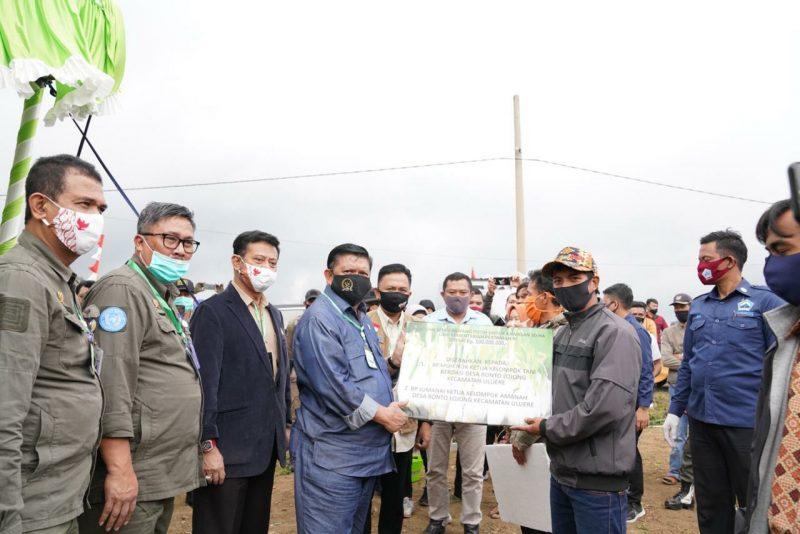 Kunjungan Kerja Menteri Pertanian, Syahrul Yasin Limpo bersama Sejumlah Ditjen di kabupaten Bantaeng, Kamis (30/7/2020).