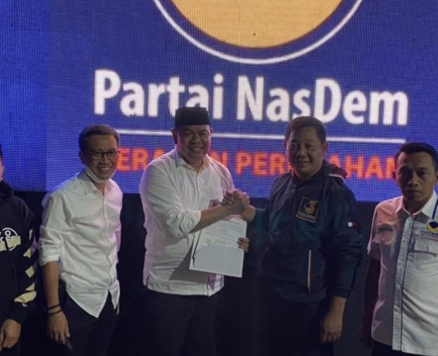 Askar-Pipink terima rekomedasi usungan Format B1 KWK Partai NasDem, Rabu (26/8/2020) malam