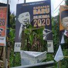 Baliho Bacalon Bupati Bulukumba Andi Muchtar Ali Yusuf dirusak OTK, Sabtu (1/7/2020).
