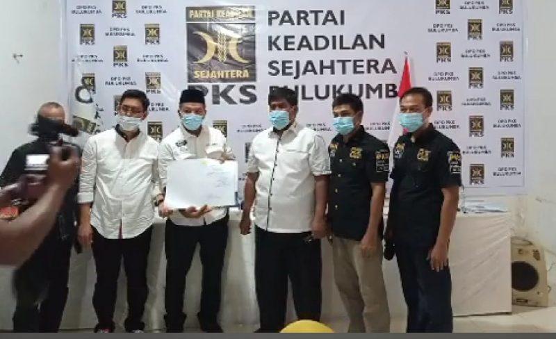 PKS Bulukumba serahkan Rekomedasi usunganya di Pilkada Bulukumba untuk pasangan Andi Utta-Edy Manaf, Senin (10/8/2020).