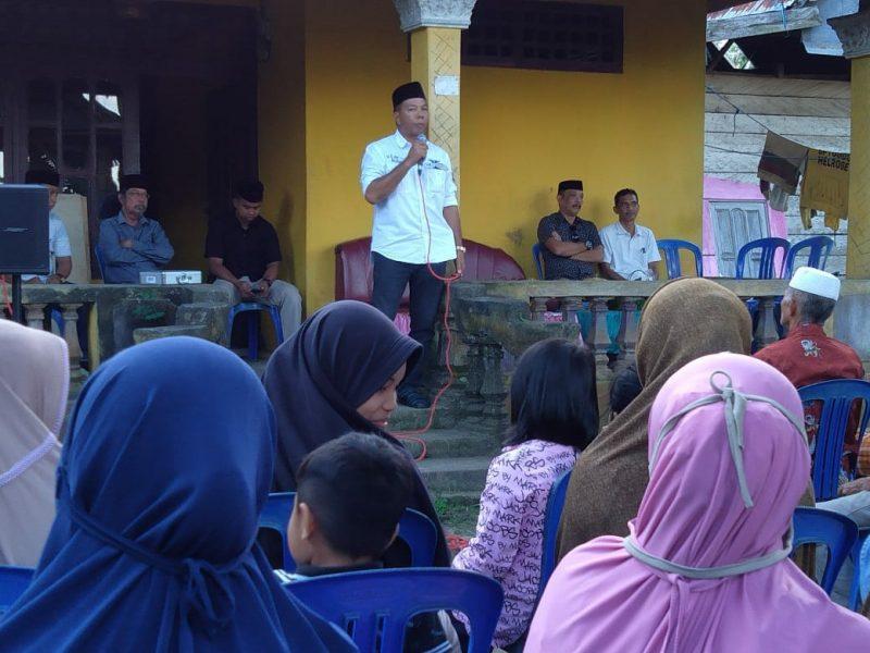Calon Bupati Bulukumba, Andi Muchtar Ali Yusuf saat sosialisasi di desa Gattareng, kecamatan Gantarang, Selasa (11/8/2020).