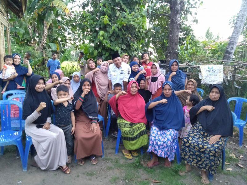 Sosialisasi Andi Utta di Desa Bonto Raja, Kecamatan Gantarang sasar Emak-emak, Selasa (11/8/2020) sore.