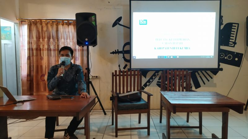 Andi Ahmar, Kepala perwakilan INDex Indonesia wilayah Indonesia timur membeberkan hasil risetnya di Pilkada Bulukumba, Rabu (23/9/2020).