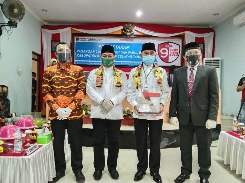 Pasangan ZAS resmi mendaftar di KPU Selayar, Sabtu (5/9/2020).