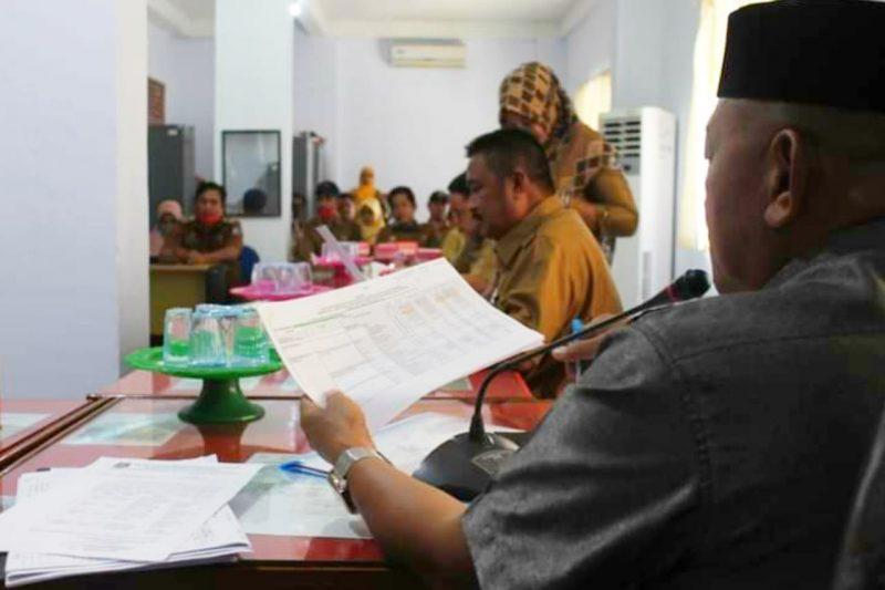 Susana rapat monitoring dan evaluasi Desa di Komisi A DPRD Bulukumba, Senin (7/9/2020).