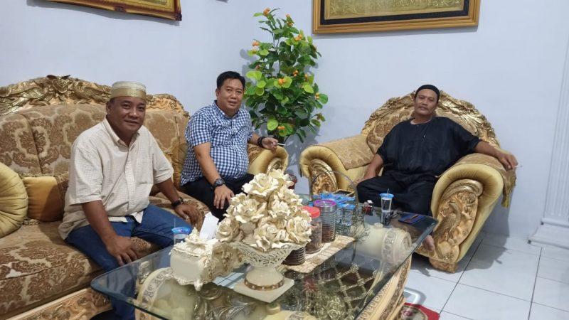 Pertemuan Andi Hamzah Pangki didampingi Iwan Nasir dengan Andi Mattampawali, Senin (7/9/2020).