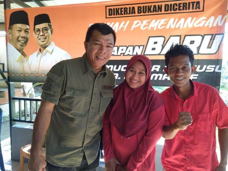 Ketua DPC PSI kecamatan Rilau Ale, Asdar Salma deklarasi dukungan Harapan Baru