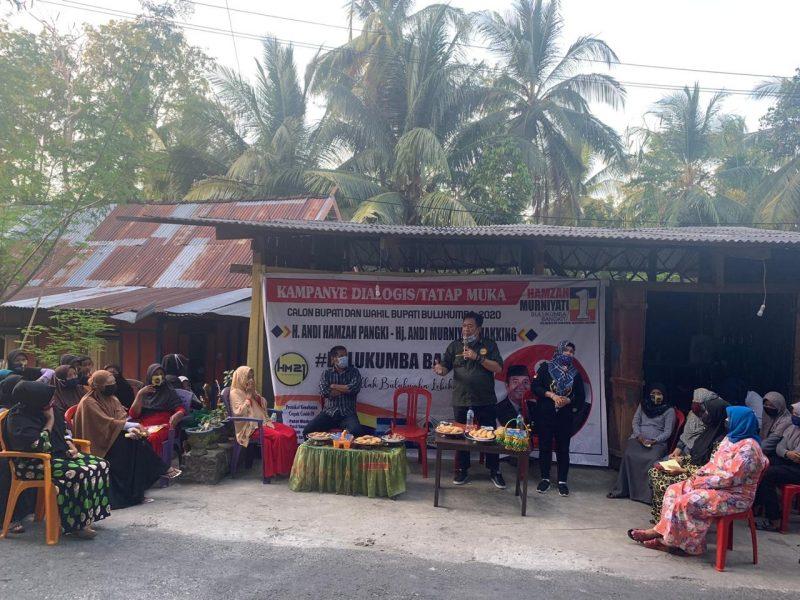 Sosialisasi HM21 di kecamatan Bonto Tiro, Kamis (1/10/2020).
