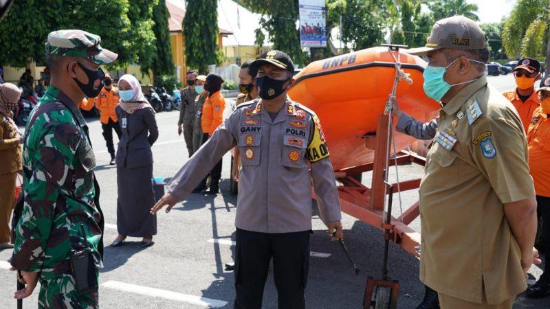 Bupati Bulukumba, AM Sukri Sappewali bersama Kapolres Bulukumba AKBP Gani Alamsyah Hatta dan Dandim 1411 Letkol ARM Joko Triyanto.