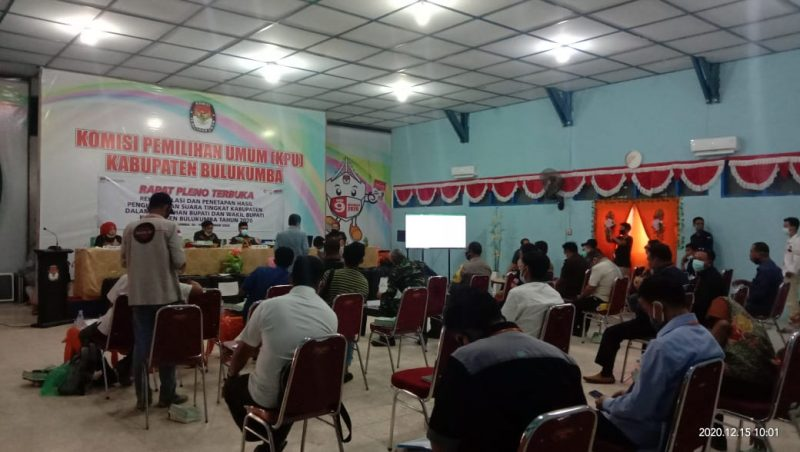 KPU Bulukumba gelar Rapat Pleno, Selasa, 15 Desember 2020