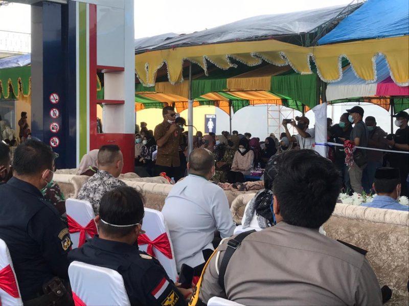 Bupati Bulukumba, Andi Muchtar Ali Yusuf hadiri syukuran pembangunan SPBU Ratulangi.