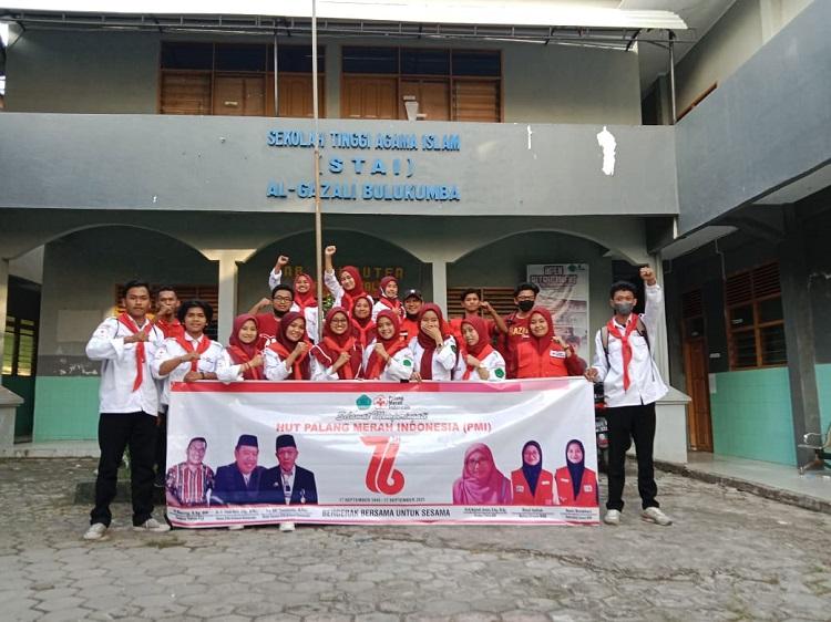 Korp Suka Rela (KSR) Palang Merah Indonesia (PMI) Unit 103 Stai Algazali Bulukumba. Foto: Dokumentasi Istimewa