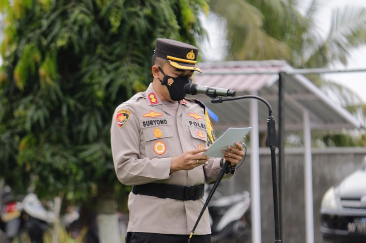 Apel Gelar Pasukan Operasi Patuh Tahun 2021, di Lapangan Apel Mako Polres Bulukumba, Senin (20/09/2021). Foto: Dokumentasi Istimewa