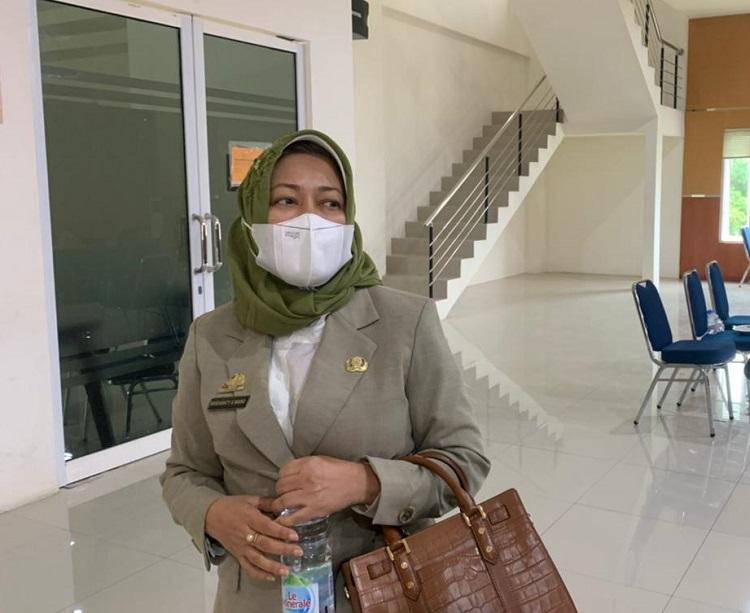 Pelaksana Harian (Plh) Sekda Bulukumba, Andi Misbawati A Wawo, saat ditemui di Gedung Paripurna DPRD, Senin (20/9/2021). Foto: IKM