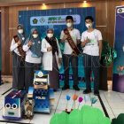 Para pelajar yang mengikuti  Kompetisi Asean Robotic Day 2021 dari MAN 2 Makassar. Foto: Dokumentasi Istimewa