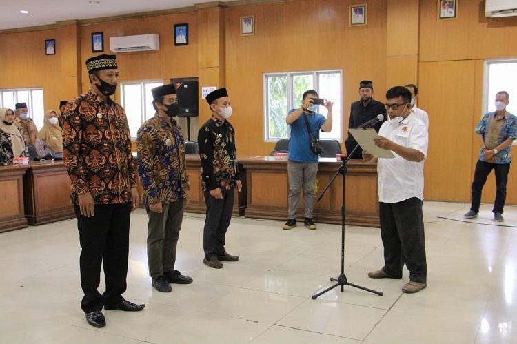 Pelantikan Pengurus Perkumpulan Aparatur Pemerintah Desa Seluruh Indonesia (PAPDESI), Kabupaten Bulukumba, Jumat (23/092021). Foto: IKM