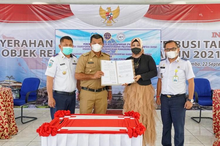 Bupati Bulukumba dalam Penyambutan Taruna (i) PKL STTD Indonesia, Senin (27/9/2021). Foto: Dokumentasi Istimewa