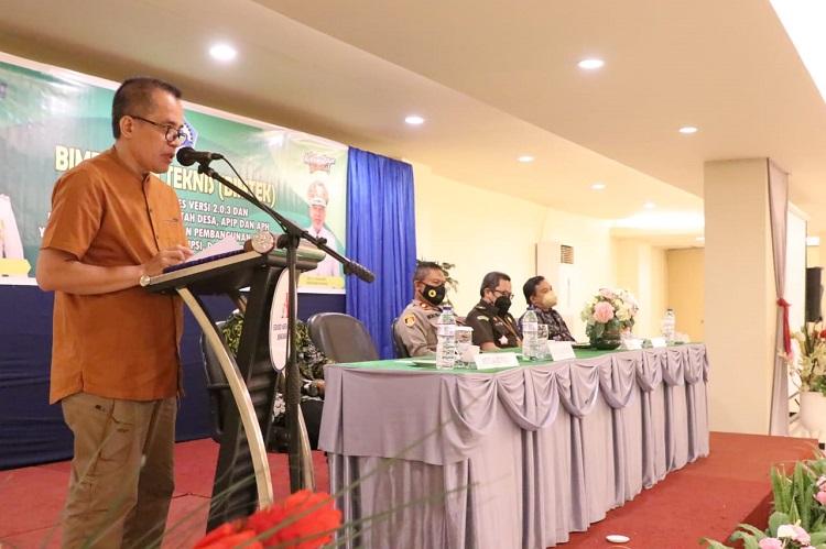 Resmi Buka Bimtek Siskeudes, Sekda Bantaeng Harap Pemdes Terapkan Prinsip Akuntabilitas. Foto: Dokumentasi Istimewa