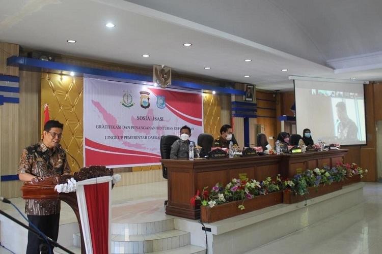 Cegah Gratifikasi dan Penanganan Benturan Kepentingan, Inspektorat Bulukumba Gelar Sosialisasi. Foto: IKM